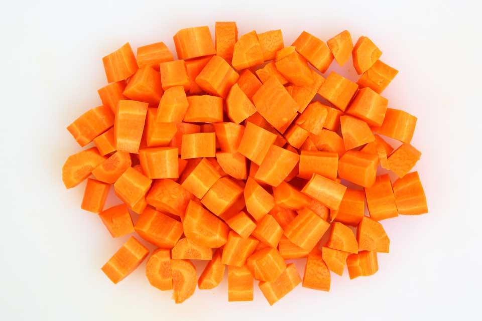 Karotten, Würfel
